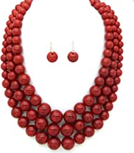 Best multi strand pearl statement necklace Reviews
