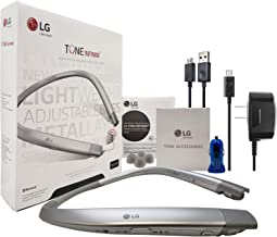 LG Tone HBS-920 INFINIM HD Silver - Bluetooth Headset Sound by - Harman Kardon Wireless Stereo Headset - with Car/Wall Charger USB, Ear Gels (Refurbished)