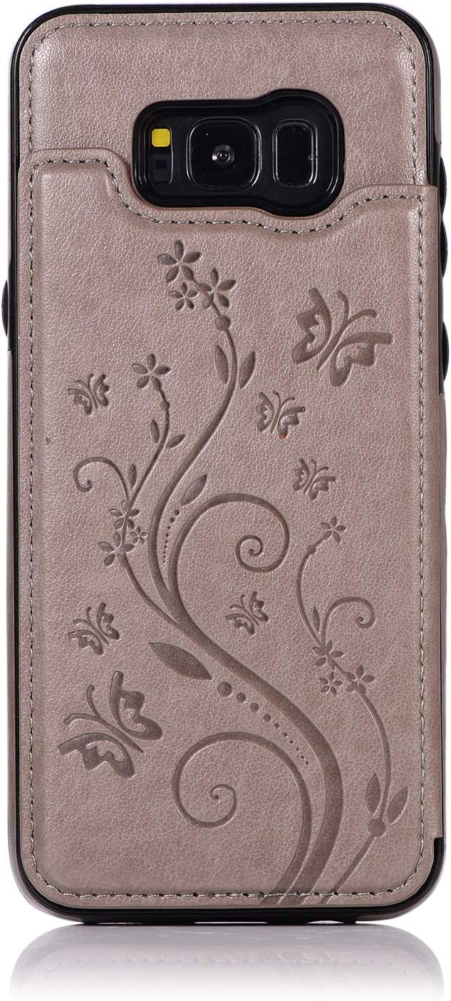 Back Wallet Case for Samsung Galaxy discount Stand Topics on TV QFFUN S8 with Elegant
