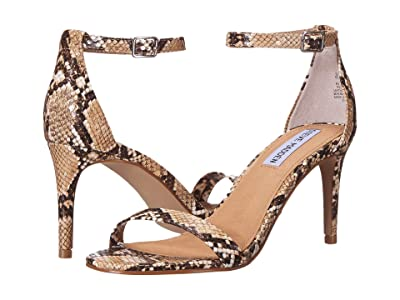 Steve Madden Exclusive Stecia Heeled Sandal (Tan Snake) Women