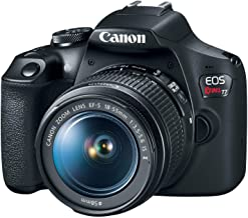 Canon EOS Rebel T7 Cámara DSLR con lente de 18-55mm | Wi-Fi integrado | Sensor CMOS de 24.1 MP | Procesador de imagen DIGIC 4+ y videos Full HD