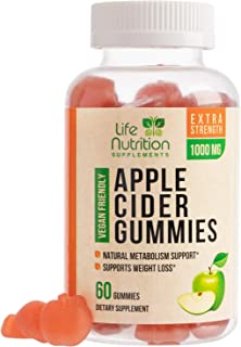Apple Cider Vinegar Gummies for Weight Support and Cleanse 1000mg - Delicious Acv Gummy Vitamins with The Mother - Folic A...