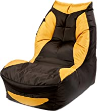 Couchette® Bean Bag Gaming Chair Play Station in Black and Yellow Finish