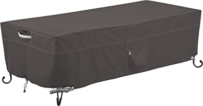 Classic Accessories Ravenna Rectangular Patio Fire Table Cover, 60 Inch