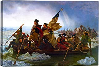 Eliteart- Washington Crossing The Delaware by Emanuel Gottlieb Leutze Oil Painting Reproduction Giclee Wall Art Canvas Prints
