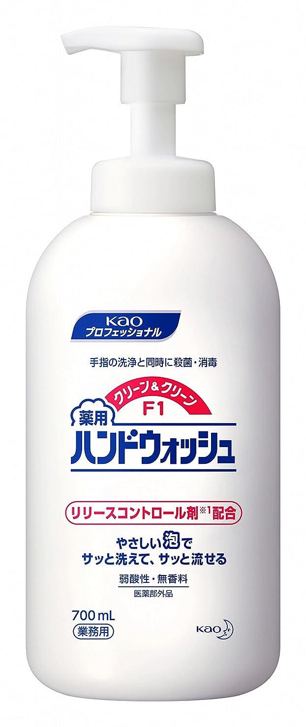 動非行死傷者【ケース販売】花王 クリーン&クリーンF1薬用ハンドウォッシュ 700ml×6本