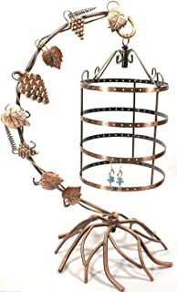 Bejeweled Display Antique Birdcage Jewelry Tree Earring Holder Necklace Organizer Display in 2 Colors (Copper)