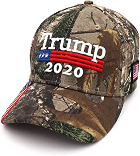 34fb606ac0f6bc MINQY Donald Trump Cap Keep America Great MAGA hat President 2020 Flag  Embroidery Camouflage