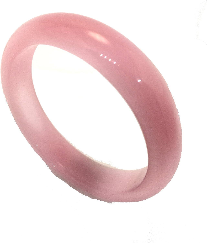 yigedan Natural Beautiful Jade Cat Eye Gemstone Bangle Bracelet 58-60mm