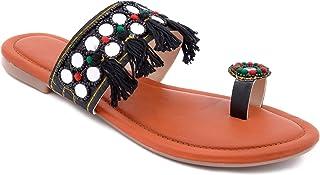 Shree Balaji Footwear EVA Slip-On Fashion Sandal For Women and Girls (SBFG0036-Black-7)