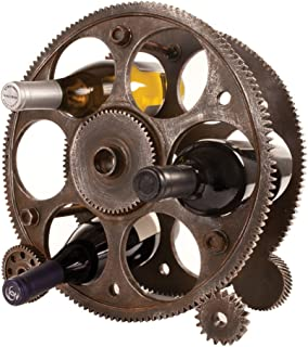 Foster & Rye 2755 Gears And Wheels Wine Rack, Copper