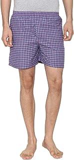 Men Classic Check - Prints Woven Boxer Shorts - Dark Pink