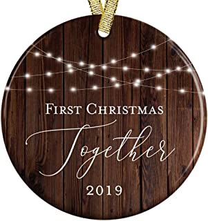 Our First Christmas Together New Couple 2019 Rustic Wood Look Modern Farmhouse 3