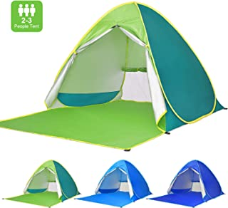 Victostar Pop up Beach Tent, Outdoor Automatic Portable Cabana 2-3 Person Fishing UV Protection Beach Umbrella Beach Shelter,Sets up in Seconds