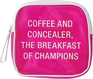 SAY WHAT AF122837 Vinyl Cosmetic Bag: Coffee & Concealer Vanity Cases, Pink
