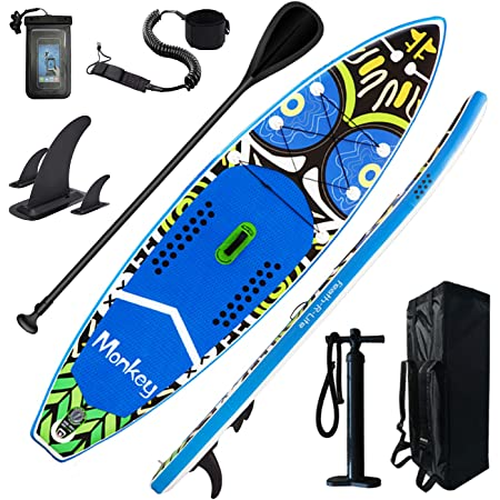 FEATH-R-LITE Inflatable 11'x33''x6'' Stand Up Paddle Board Ultra-Light (19.6lbs) SUP with Accessories Adj Paddle, ISUP Backpack, Pump, Phone Bag, Leash, Non-Slip Deck pad Youth & Adult