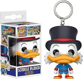 Funko Scrooge McDuck Pocket POP! x Disney - DuckTales Mini-Figural Keychain + 1 Classic Disney Trading Card Bundle (20064)