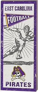 "KH Sports Fan 7""X18"" East Carolina Pirates Vintage Player, White"
