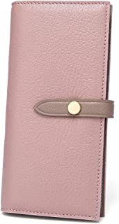 Women's Large Capacity RFID Leather Trifold Wallet Card Holder Buckle Clutch Purse