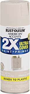 Rust-Oleum 327934 American Accents Spray Paint, 12 oz, Satin Smokey Beige