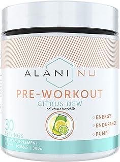 Alani Nu Pre-Workout Supplement Powder for Energy, Endurance, and Pump, Citrus Dew, 30 Servings