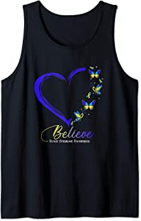 Butterfly Believe Down Syndrome Awareness Ribbon Gifts Tank Top