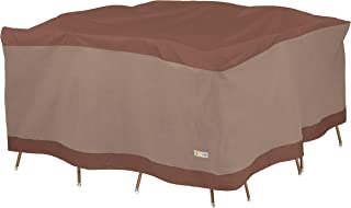 Duck Covers Ultimate Square Patio Table with Chairs Cover, 92-Inch