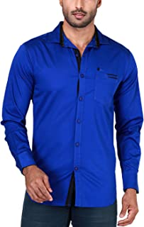 Rapphael Long Sleeve Shirt for Men - Blue