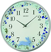 Seiko Plastic Wall Clock (33 cm x 33 cm x 6.7 cm, White, QXC238N)