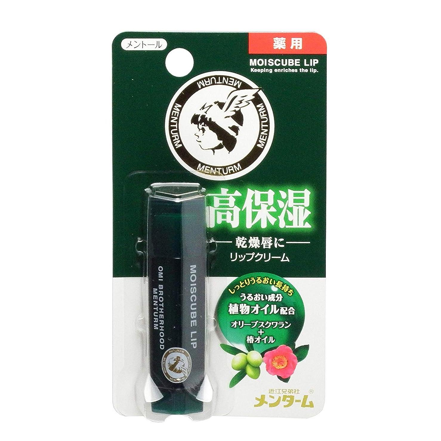 スケッチピケ煙突メンターム モイスキューブリップ メントール 4g (医薬部外品) ×4本セット