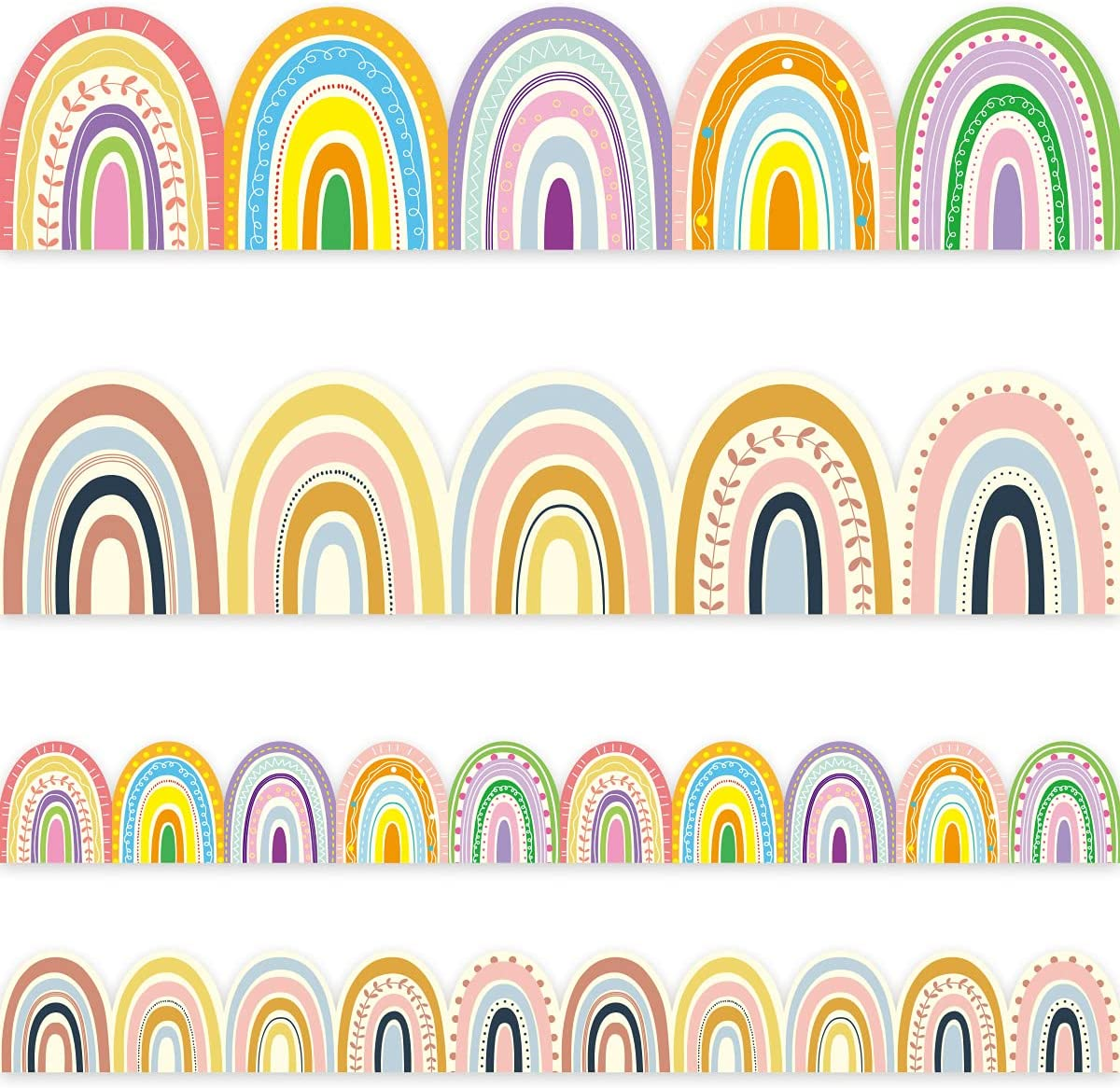 Boho Bulletin latest Border Trim 36ft Outstanding Sided Two for Rainbow Clas