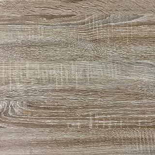 Rohr-Trading.SURFACES Klebefolie für Möbel Küche Tür & Deko I Selbstklebende Folie inkl. Filzrakel zur Verarbeitung I 3D Fototapete Sonoma Eiche Holzoptik 200 x 45cm
