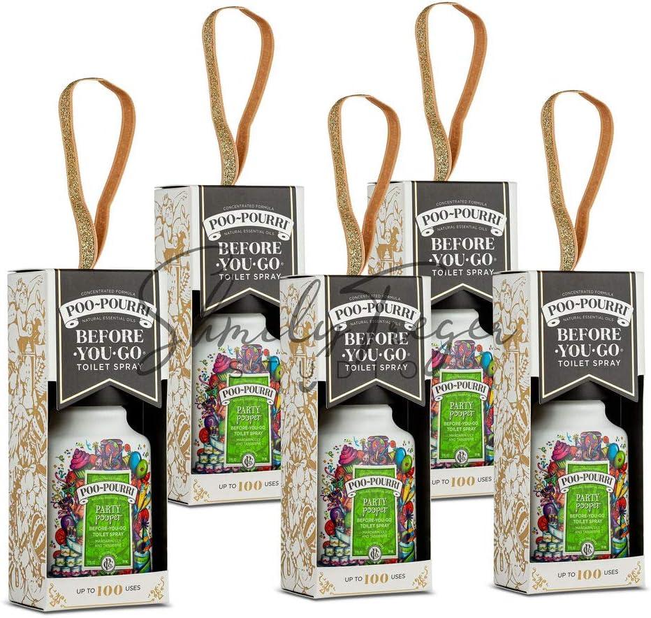 Poo-Pourri PP8487 Set of 5-2oz. Party Fashion w Scent Seattle Mall Pooper Deodorizers