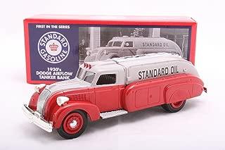 Ertl 1/25 Chevron 1930s Dodge Airflow Tanker Bank: Silver/ Red