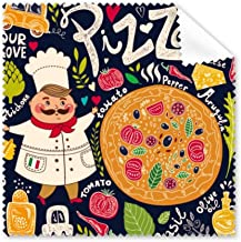 DIYthinker Cook Pizza Italy Tomato Foods Glasses Cloth Cleaning Cloth Phone Screen Cleaner 5Pcs Gift