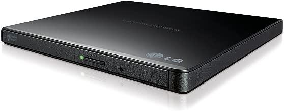 LG Electronics 8X USB 2.0 Super Multi Ultra Slim Portable DVD Writer Drive +/-RW External Drive with M-DISC Support (Black) GP65NB60 (Renewed)