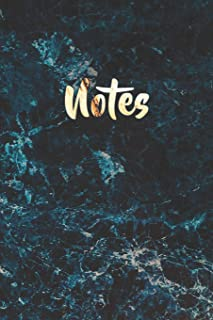 Notes: Blue Marble and Shiny Gold Notebook | Pretty Marble Journal to Write in | Elegant Lined Notebook for Writing