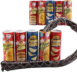 Newin Star Tricky Toys serpiente de patata Chip puede saltar falsa serpiente broma broma tonto día Toy Halloween Toy (color aleatorio)