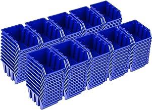PAFEN NP4 - Juego de cajas apilables (100 unidades), color azul