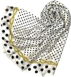 Shanlin Silk Feel Long Satin Patterned & Solid Color Scarves for Women