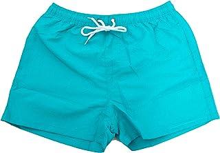 Bermuda Uomo Costume Fluo Pantaloncini Mare Boxer Swimsuit Nuovi N3033[Arancio Fluo,S]
