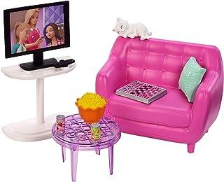 b5612c9080db7  Barbie Mobilier coffret d intérieur pour poupée avec meubles de salon