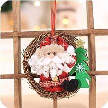 Luuvy-shop Christmas Tree Decoration Santa Snowman Elk Wreath Ornaments Navidad Garland Christmas Home Decorations Noel New Year 2020 Gifts,8-Style2-Santa