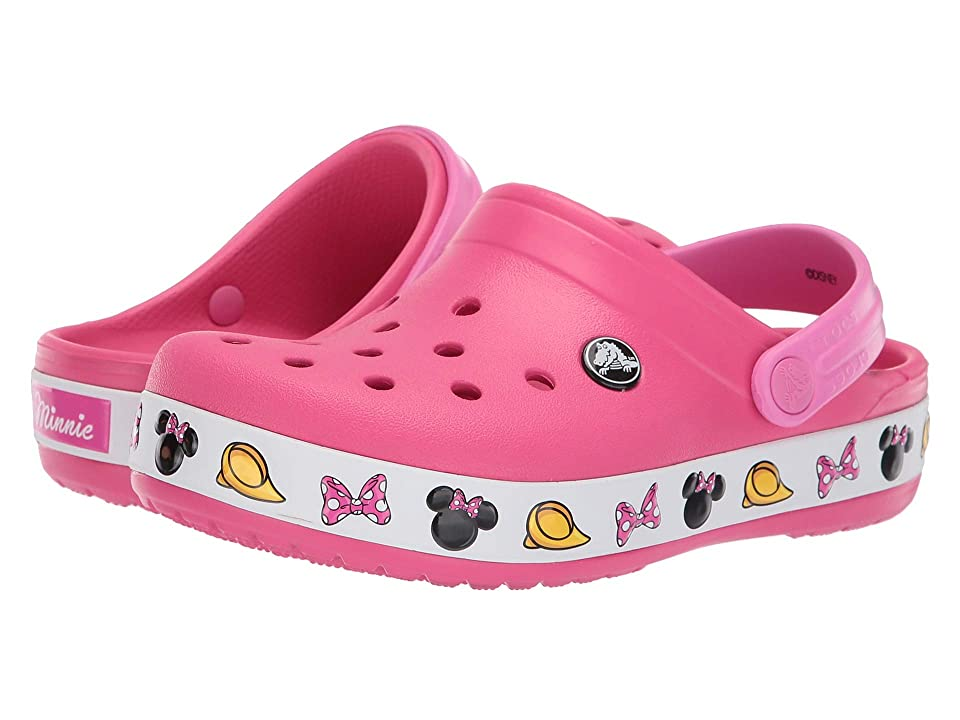 Crocs Kids Crocband Minnie Clog (Toddler/Little Kid) (Paradise Pink) Girls Shoes