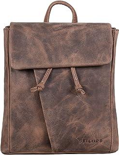 STILORD 'Anita' Lederrucksack Damen Klein Vintage City Rucksack Daypack für iPad 9.7 Zoll Rucksackhandtasche Shopping Frei...