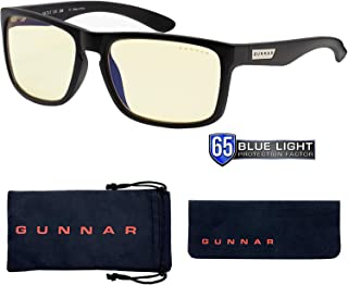 Gaming Glasses | Blue Light Blocking Glasses | Intercept/Onyx by Gunnar | 65% Blue Light Protection, 100% UV Light, Anti-R...