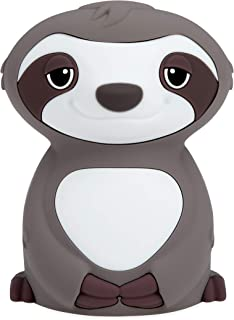 Nuby Sloth Baby Silicone Nightllght, Rechargeable, Color Changing Touch Night Light for Kids Bedside