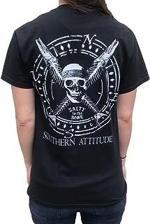 Salty to The Bone Pirate Skull and Fish Crossbones Black T-Shirt