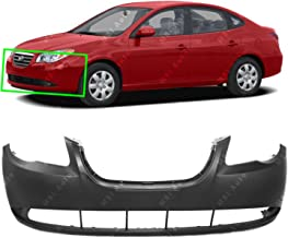 MBI AUTO - Primered, Front Bumper Cover Fascia for 2007-2010 Hyundai Elantra Sedan 07-10, HY1000167