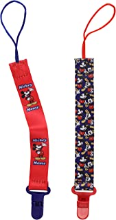 Disney Mickey Mouse 2 Pack Pacifier Clip, Thumbs UP